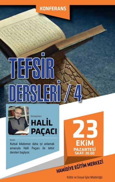 TEFSİR DERSLERİ / 4